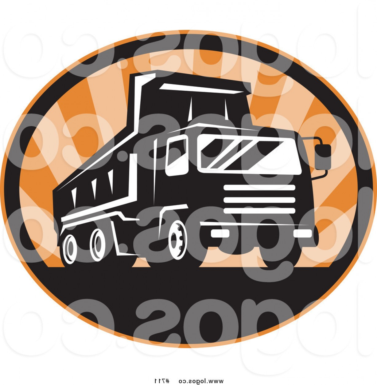 Vector NBA LogoArt: Royalty Free Vector Logo Of A Dump Truck By Patrimonio