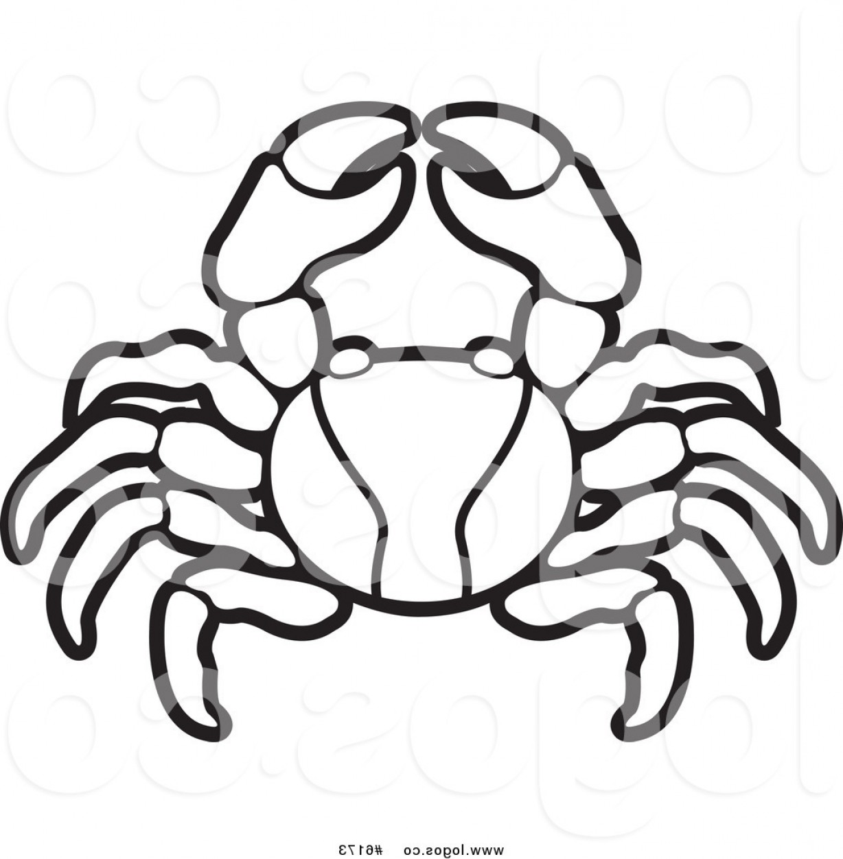 Crab Vector Black: Royalty Free Vector Of A Black And White Crab Logo By Lal Perera