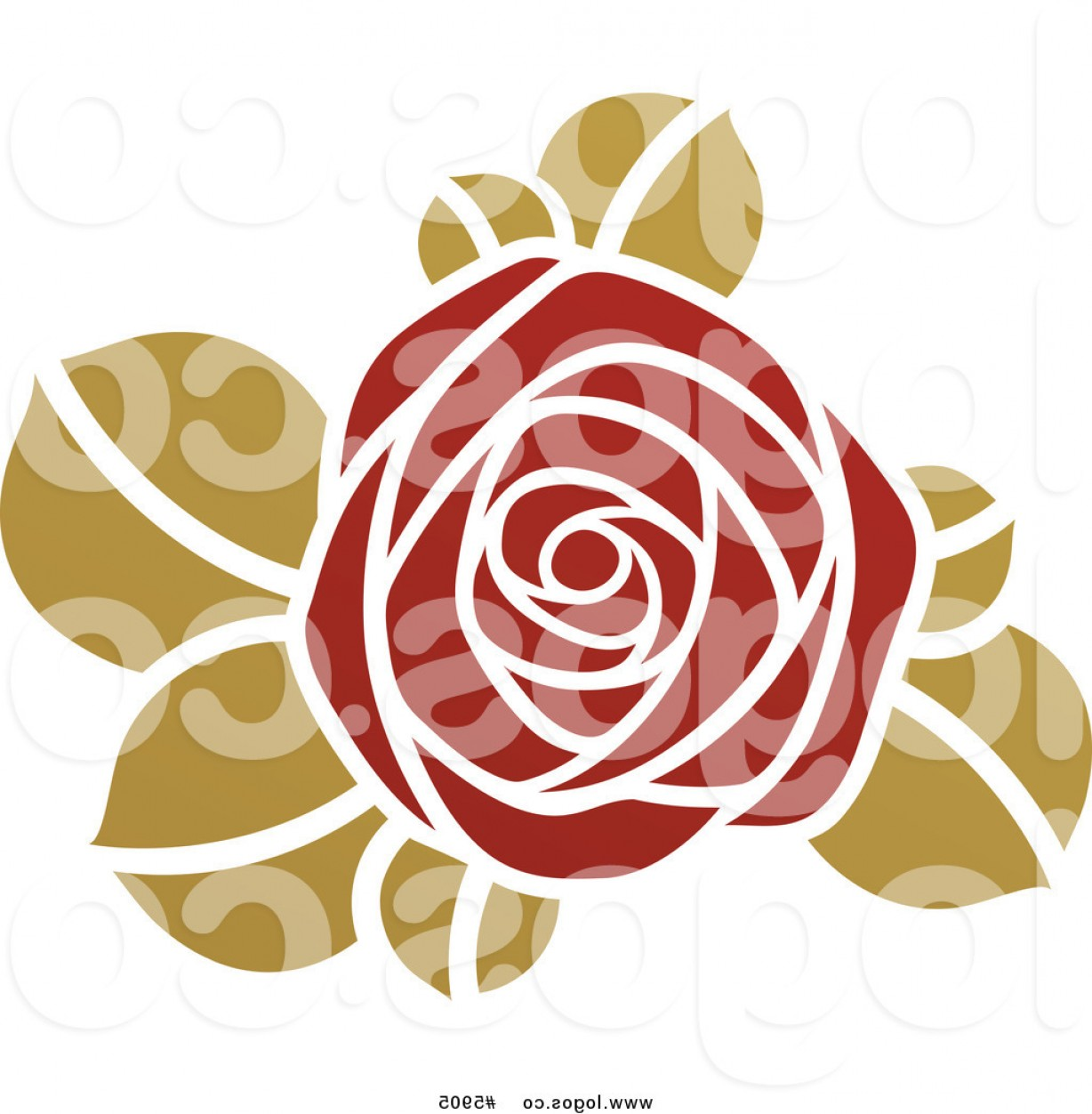 Roses Logo Vector: Royalty Free Vector Of A Logo Of A Red And Green Rose By Elena