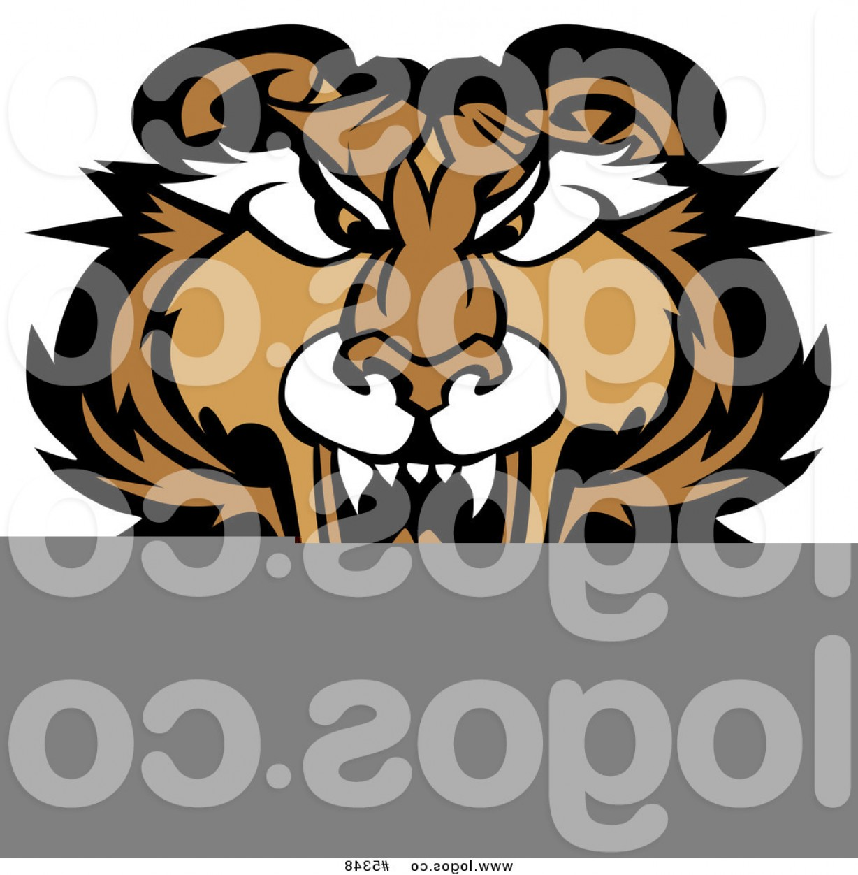 Cougar Logo Vector: Royalty Free Vector Of A Logo Of A Roaring Puma Cougar By Chromaco