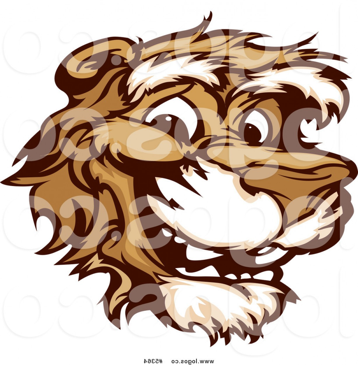 Cougar Logo Vector: Royalty Free Vector Of A Logo Of A Smiling Happy Cougar Face By Chromaco