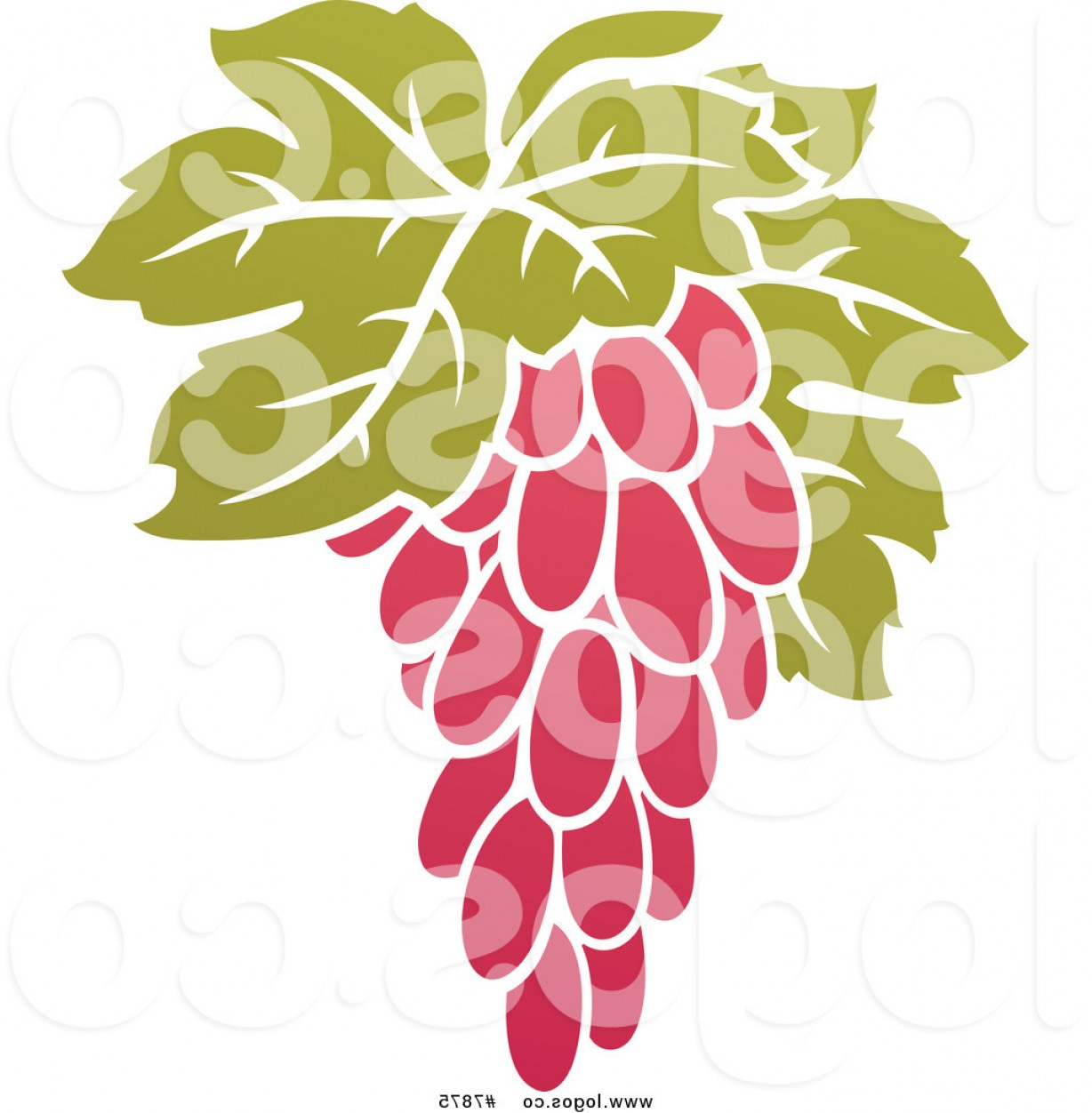 Grapes Clip Art Vector: Royalty Free Vector Of A Purple Grapes And Leaves Winery Logo By Elena