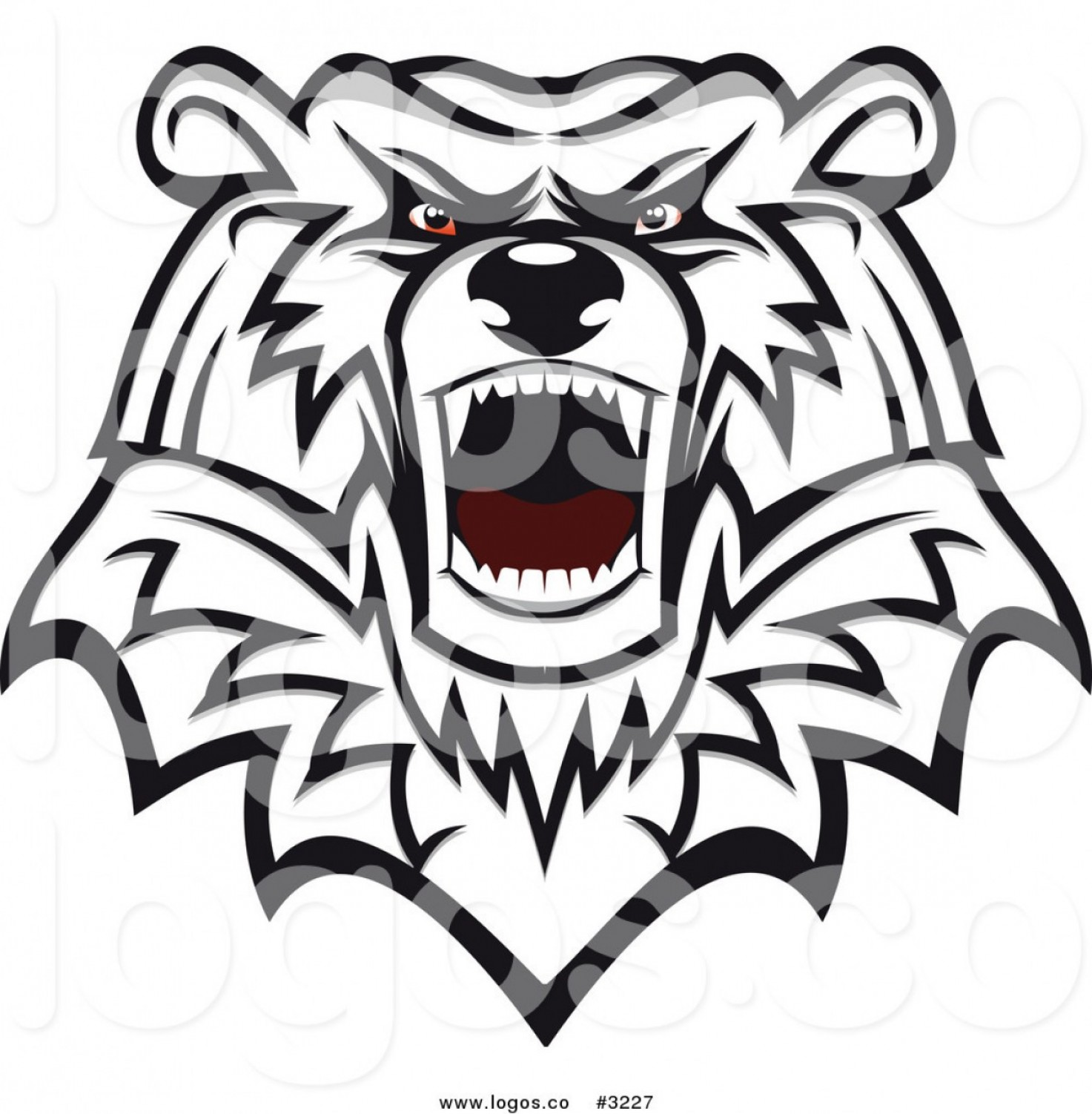 Mad Vector: Royalty Free Vector Of An Angry Mad Polar Bear Head Logo By Vector Tradition Sm