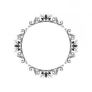 Vintage Frame Vector: Abstract Cute Decorative Vintage Frame Vector Clipart