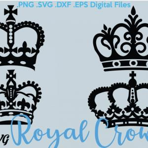 Princess Crown Vector Graphic: Royal Crowns Svg Eps Dxf Crowns Clipart Digital Download Vector Files Stencil File Svg Png Dxf Eps Silhouette Cameo Cricut