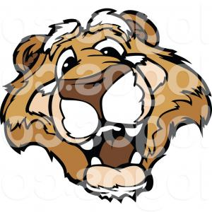 Cougar Logo Vector: Royalty Free Clip Art Vector Logo Of A Friendly Couger Face By Chromaco