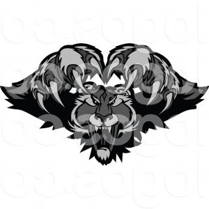 Panther Vector: Royalty Free Clip Art Vector Logo Of A Leaping Black Panther By Chromaco