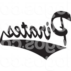 Pirates Logo Vector: Royalty Free Clip Art Vector Logo Of Black And White Tailsweep And Pirates Sports Team Text By Johnny Sajem