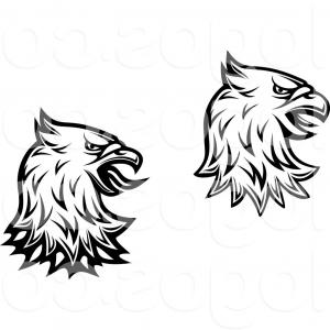 Superman Black And White Vector: Royalty Free Clip Art Vector Logos Of Black And White Heraldic Eagle Heads By Vector Tradition Sm