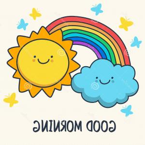 Rainbow Sun Vector Free: Royalty Free Stock Image Cloud Sun Rainbow Vector Illustration Background File Eps Format Image
