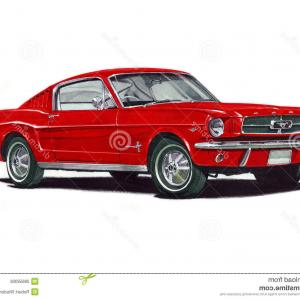 2005 Ford Mustang GT Drawing Vector: Ford Mustang Coupe Vector File