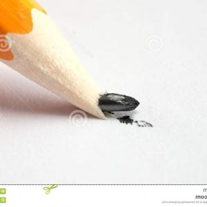 Broken Pencil Vector: Stock Photo Pencil Tool Icon Write Office Object And Instrument Theme Isolated