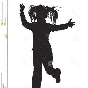 Dreadlock Football Player Silhouette Vector: Vector Illustration Warmingup Football Player Cartoon