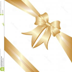 Vector Art Free Christmas Gift: Royalty Free Stock Photo Gold Ribbon Christmas Gift Image