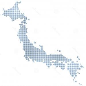 Japan Map Vector: Japan Island Map Silhouette Vector