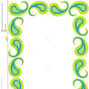 Simple Paisley Vector Border: Abstract Vector Background Two Simple Border