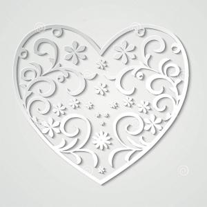 Vector Filigree Heart: Stock Photo Filigree Heart Banner In Vector Format