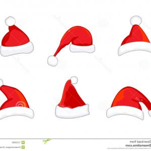 Santa Hat Vector Logo: Stock Illustration Santa Hat Christmas Cap Icon
