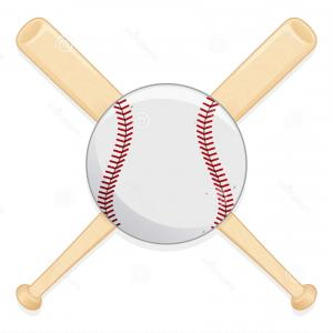 Vector Baseball Cross: Photostock Vector Baseball Cross Bats And Ball With Mitt