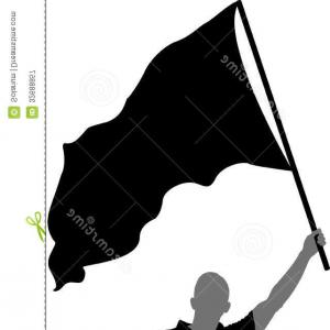 Color Guard Silhouette Vector: A Silhouette Of A Honor Guard In Front Of A Rainbow Gm