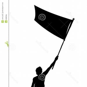 Color Guard Silhouette Vector: Royalty Free Stock Photography Man Holding Flag Vector Silhouette Image