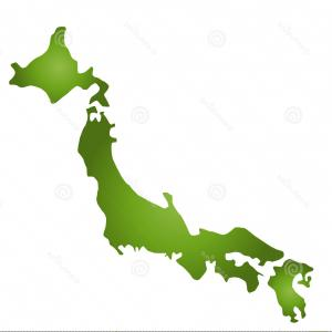 Japan Map Vector: Royalty Free Stock Photo Japan Map Dots Image