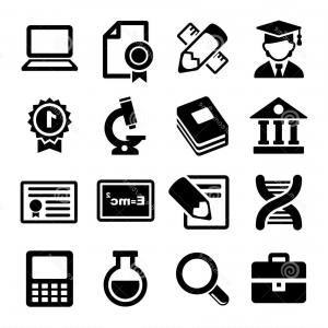 Free Vector Flat Education Icons: Language School Flat Vector Education Icons Gm
