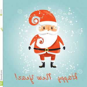 Santa Claus Vector Illustration: Royalty Free Stock Photography Vector Santa Claus Illustration Retro Christmas Card Image