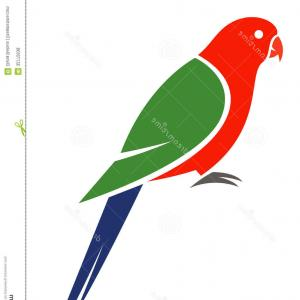 Abstract Vector Art Parrot: Photostock Vector Parrot Abstract Isolated On A White Background Vector Illustration