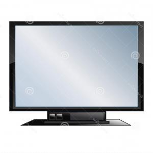 Vector Flat Screen Television: Royalty Free Stock Photos Flat Screen Tv Vector Image