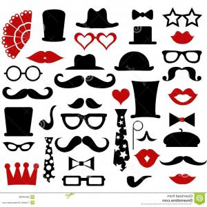 Free Vector Hipster: Stock Illustration Vector Hipster Icons Set Notebook Pipe Hat Bow Mobile Phone Vintage Camera Glasses Mustache Flat Style Modern Image