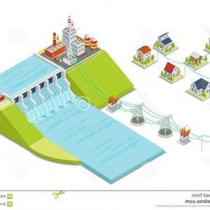 Vector Power Plant Utility: Vector Lines Power Plant Energy Industrial