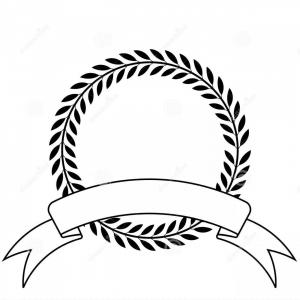 Vector Laurel Wreath With Ribbon: Royalty Free Stock Photos Laurel Wreath Ribbon Image