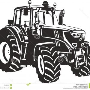 Tractor Silhouette Vector Art: Agricultural Transport Icons Tractor And Tipper Vector Clipart
