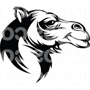 Camel Clip Art Vector: Royalty Free Vector Of A Black Camel Face Logo By Vector Tradition Sm