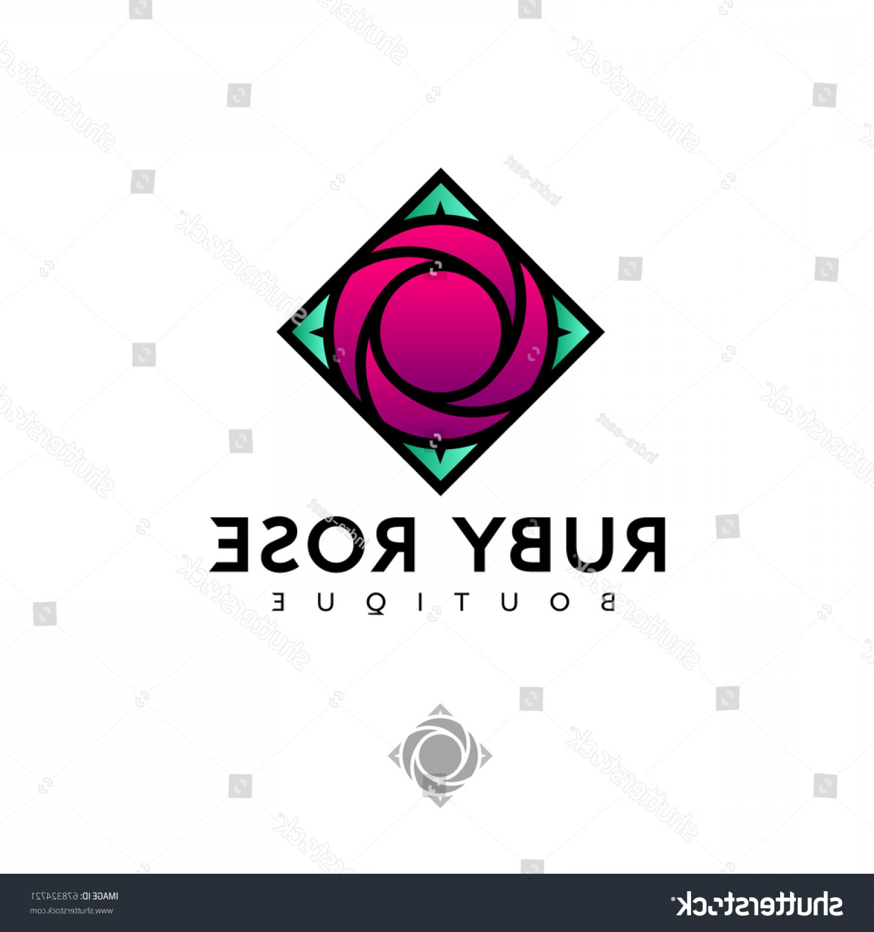Ruby Royalty Free Vector Graphics: Ruby Rose Logo Colored Glass Stained
