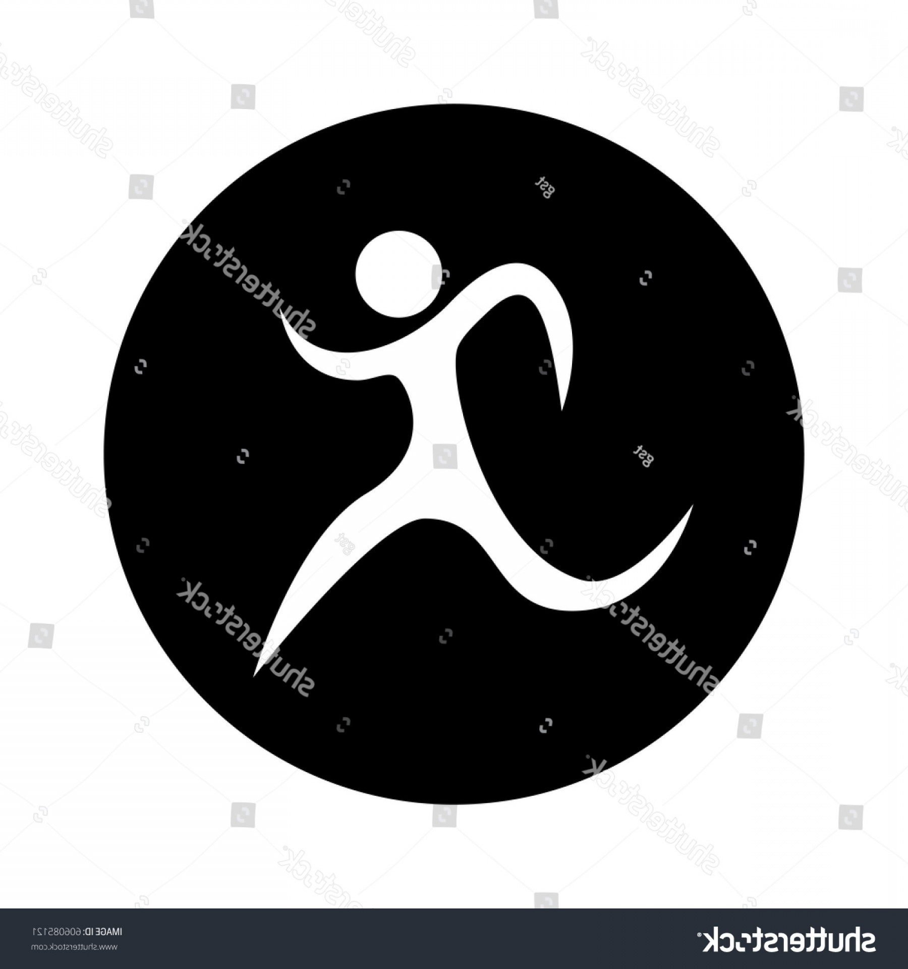 Shutterstock Vector Design With Runner: Runner Athlete Silhouette Icon Vector Illustration