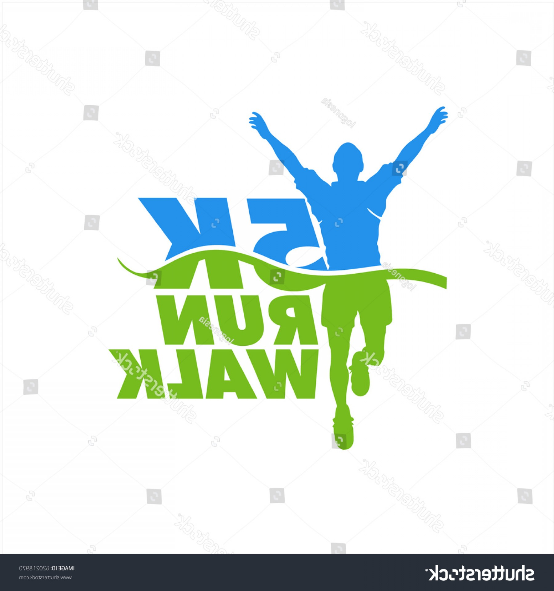 Shutterstock Vector Design With Runner: Runner Icon Marathon Event Vector Stock