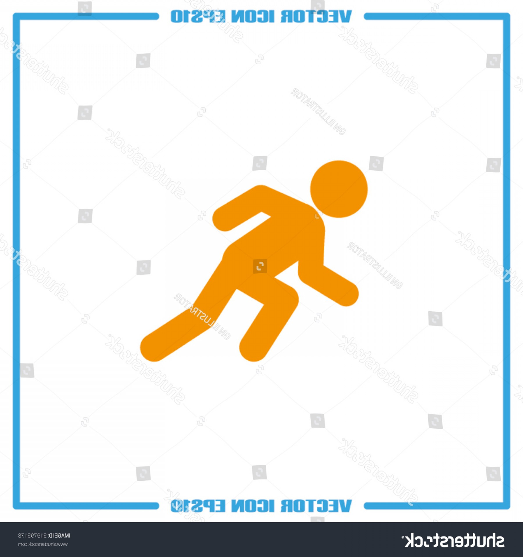 Shutterstock Vector Design With Runner: Runner Icon Vector Illustration Eps Isolated