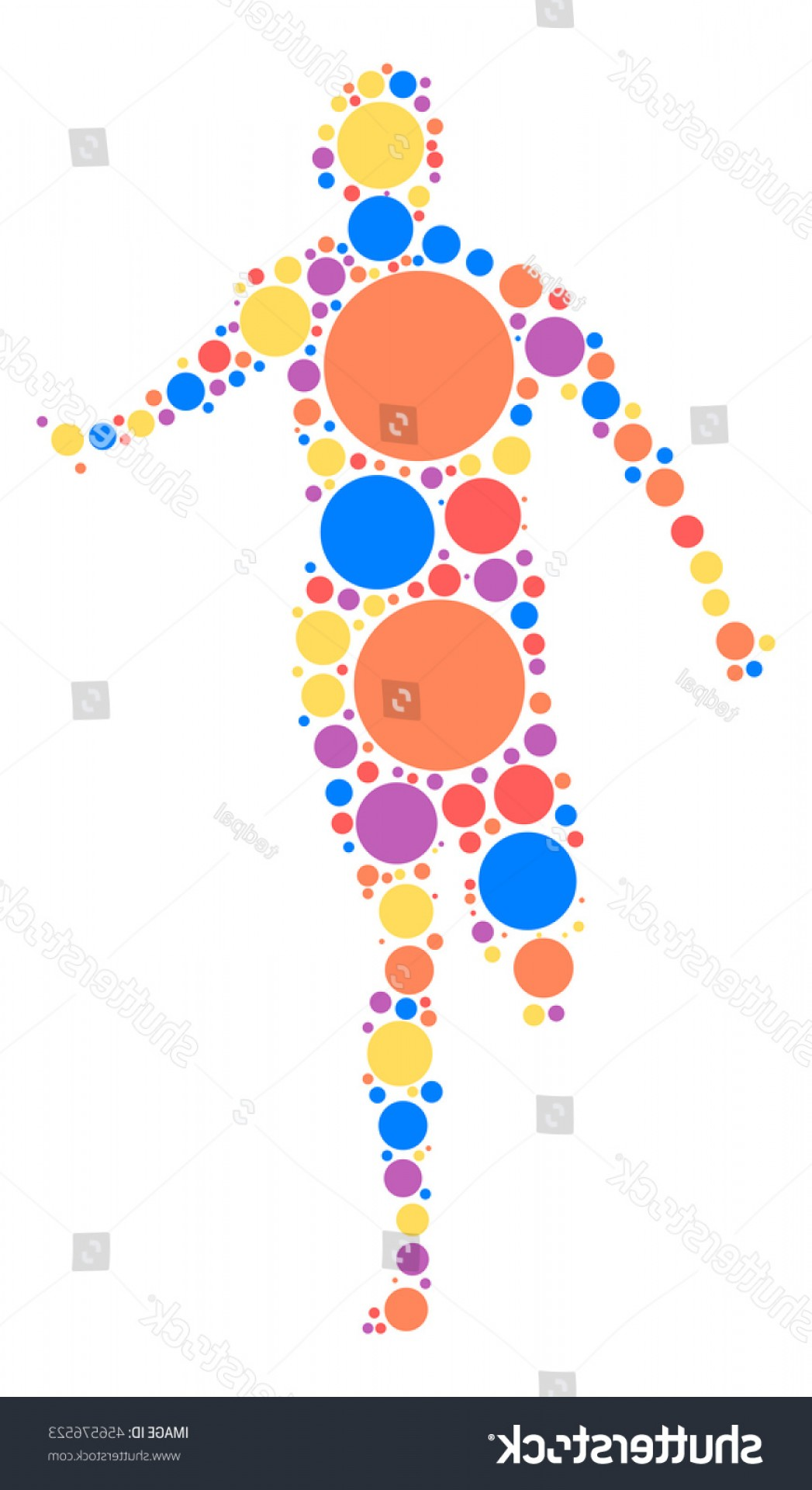 Shutterstock Vector Design With Runner: Runner Shape Vector Design By Color