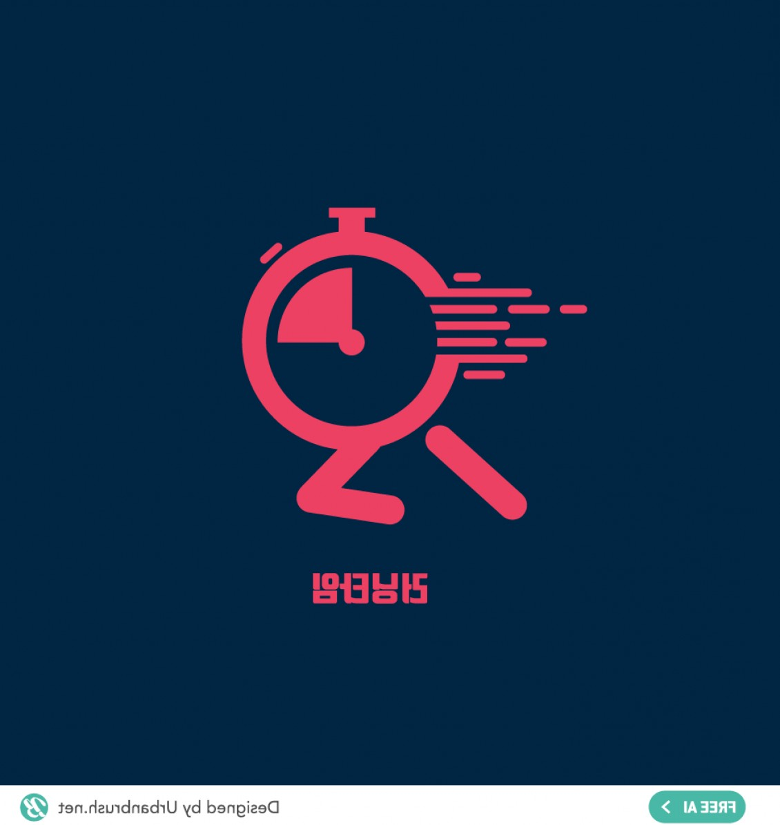 Stop Watch Vector Ai File: Running Clock Ai Free Illustration Vector Download