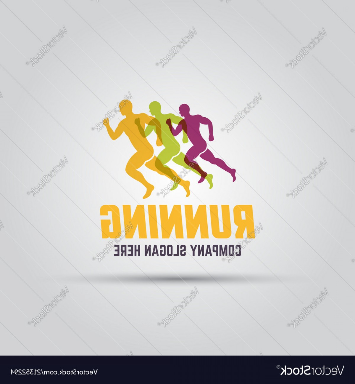 Sprint Logo Vector: Running Man Abstract Isolated Colored Logo Vector