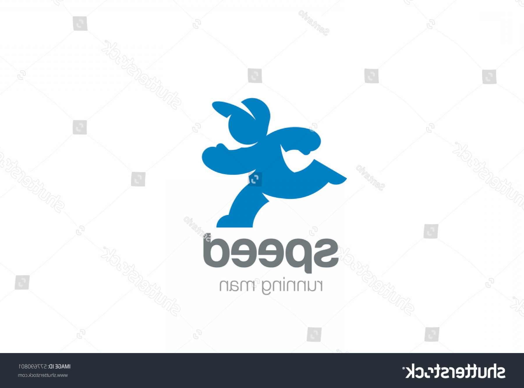 Shutterstock Vector Design With Runner: Running Man Silhouette Abstract Logo Design
