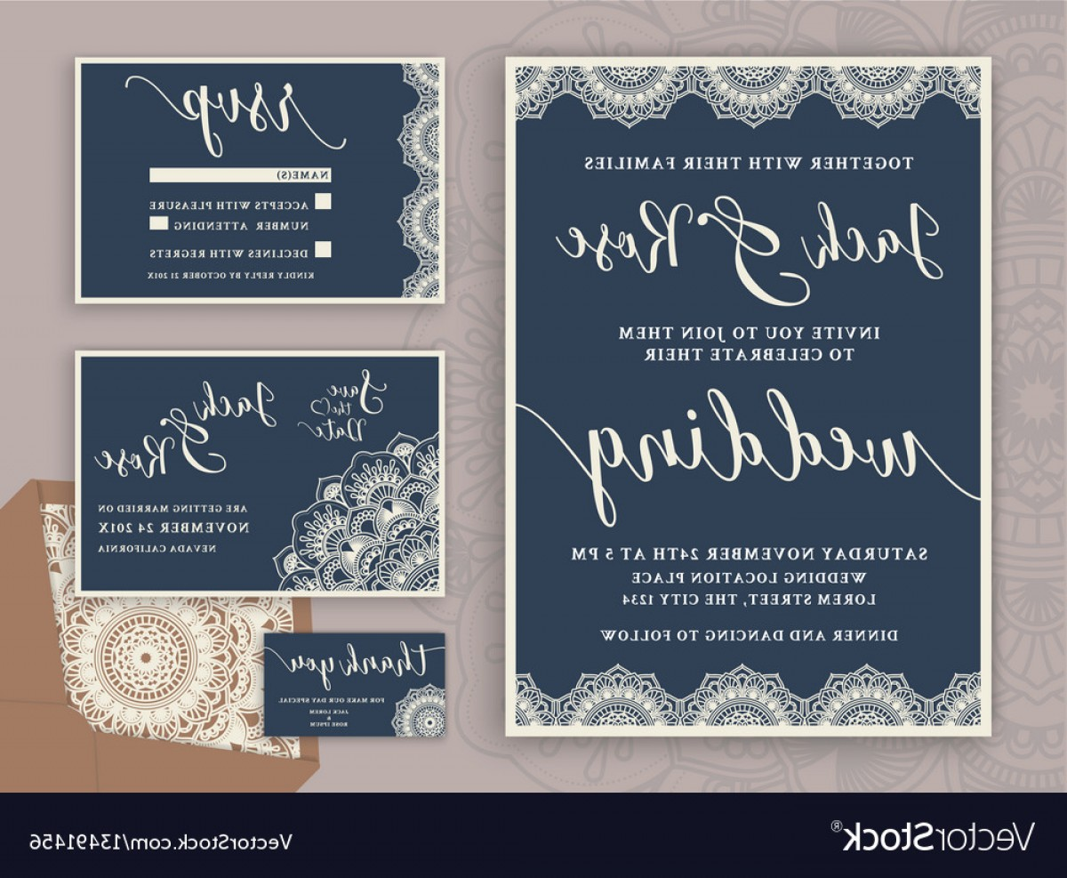 Rustic Wedding Invitation Vector: Rustic Wedding Invitation Design Template Vector