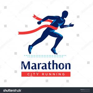 Marathon Oil Logo Vector: Running Marathon Logo Label Runner Red