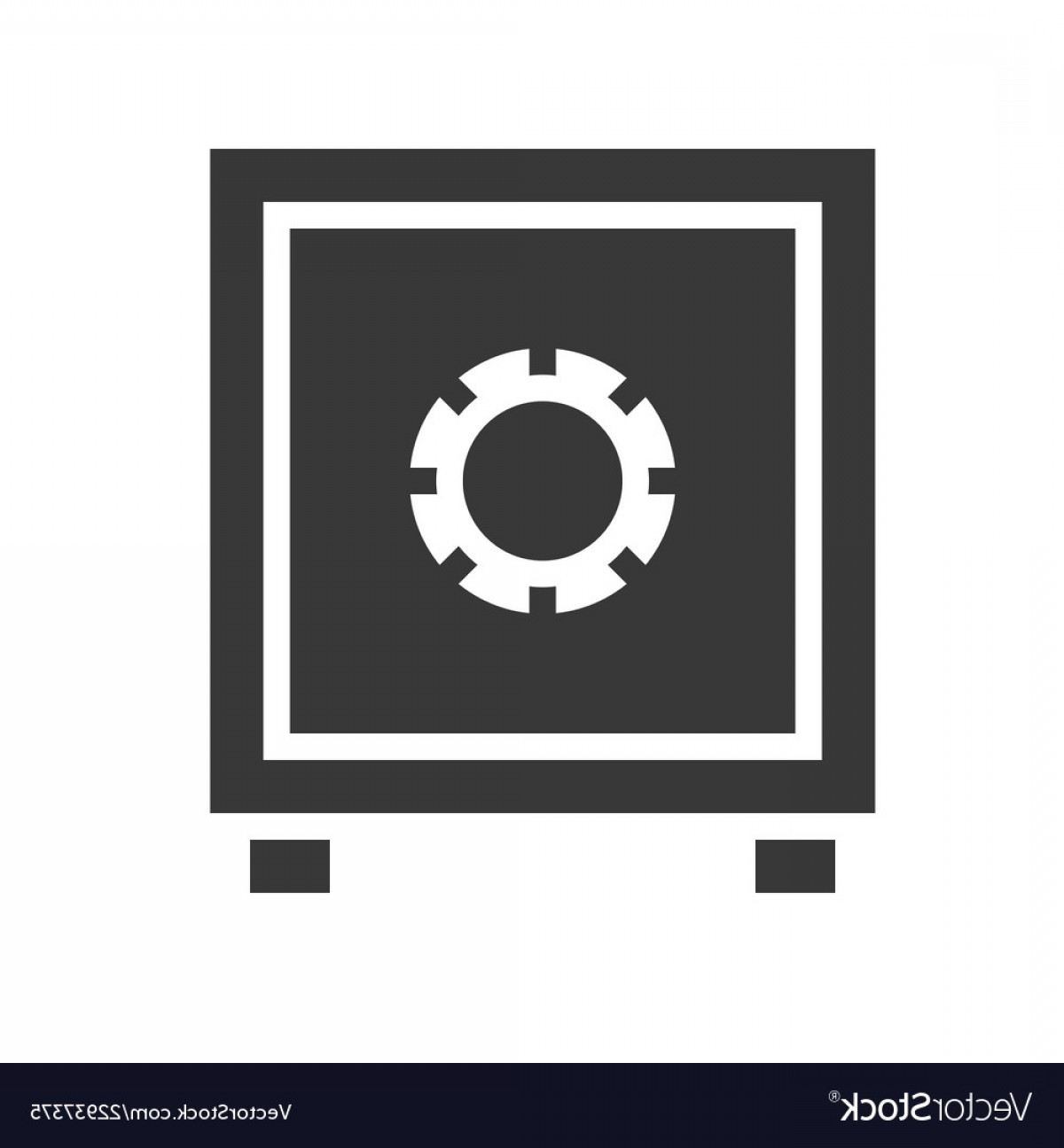 Vector Police Box: Safe Box Police Related Solid Icon Vector