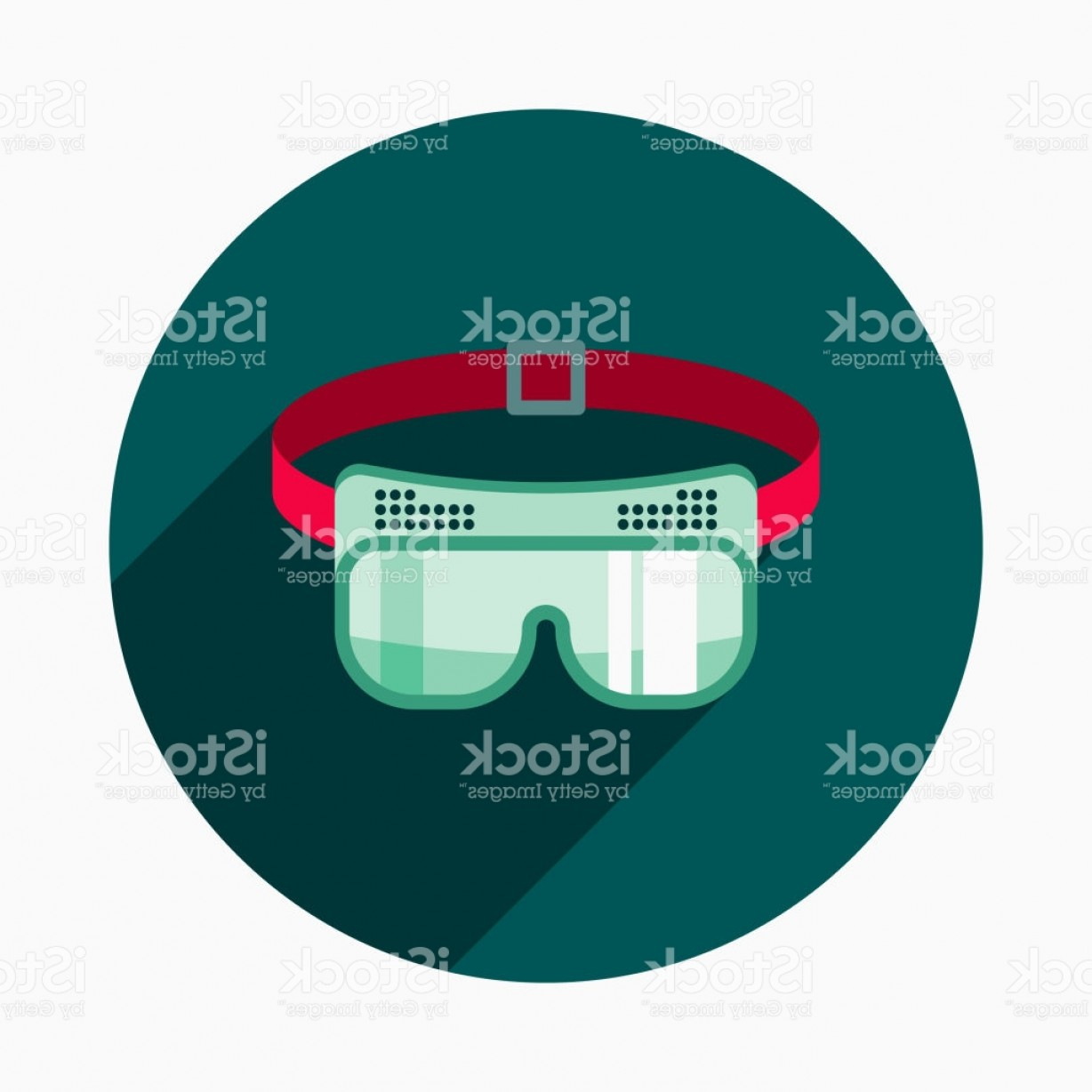 Construction Safety Goggles Vector: Safety Goggles Flat Design Home Improvement Icon Gm