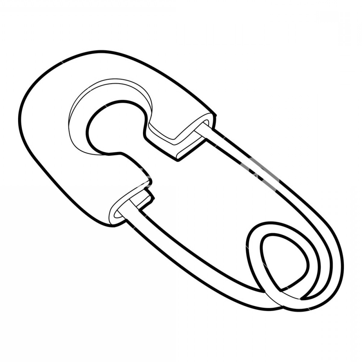 Vector Safety Pin: Safety Pin Icon Isometric D Illustration Of Safety Pin Vector Icon For Web Bdtdqlijxjhsapj