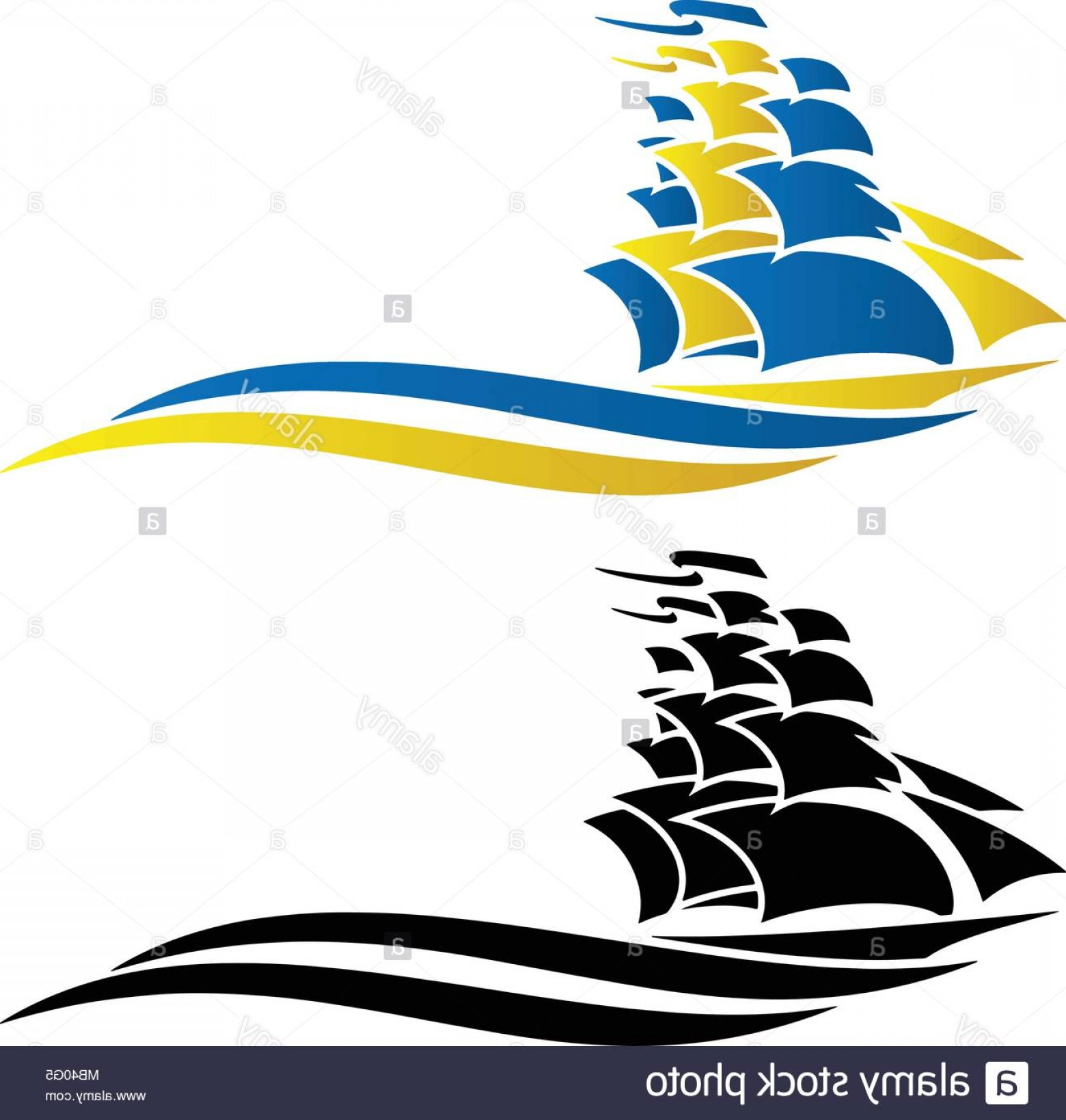 Boat Vector Art Graphics: Sailing Ship Vector Graphic Illustration Image