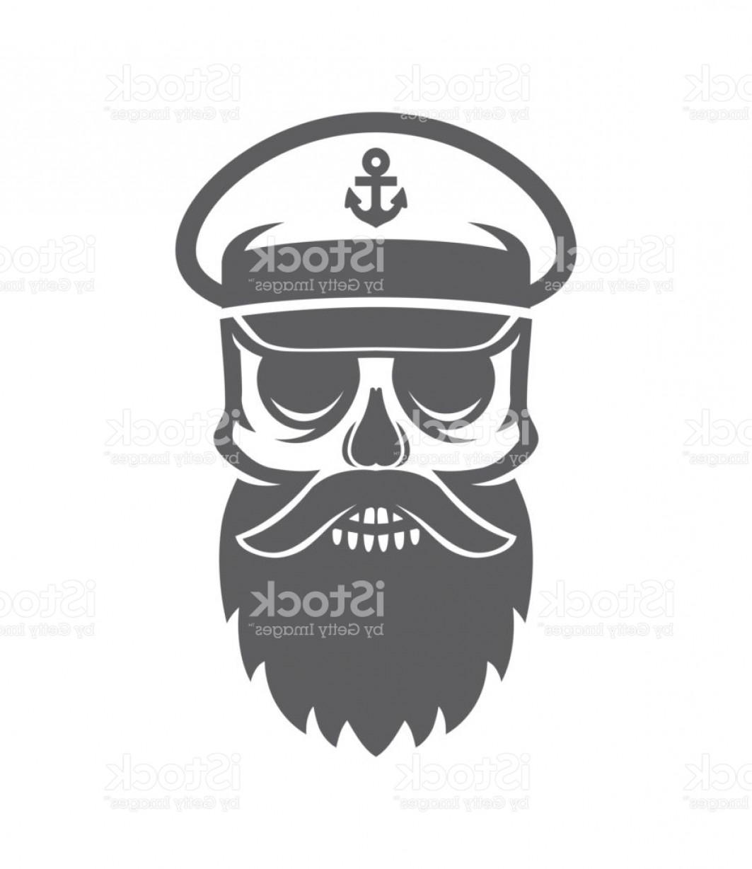 Fear The Beard Vector: Sailor Bearded Skull Ship Captain Dead Head Gm